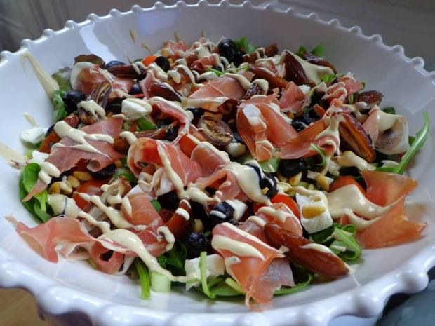 Salad Parma Ham Goat Chees Dates Spinach