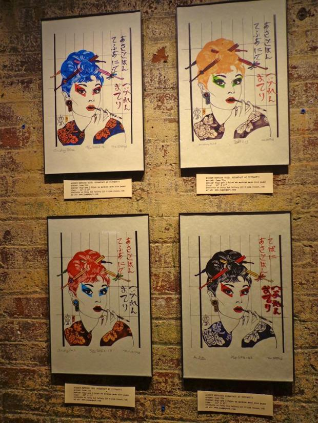 Chelsea Market New York Manhattan Art Audrey Hepburn Asian