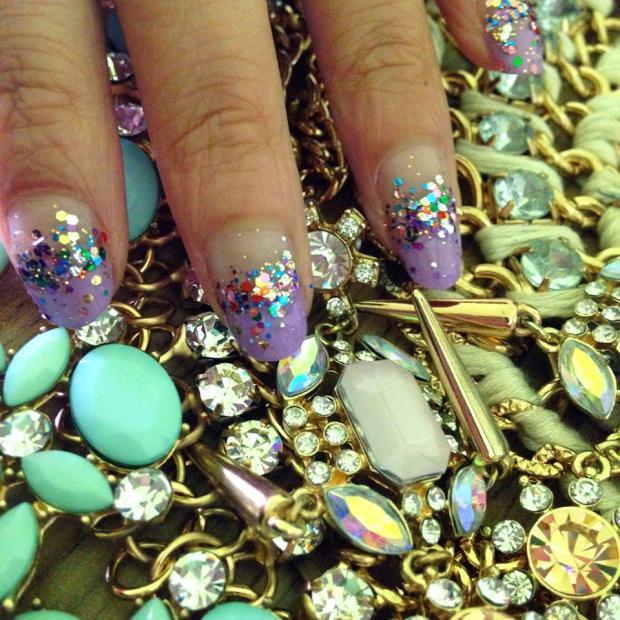 Nailart Nail Tutorial Glitter Jewels 2